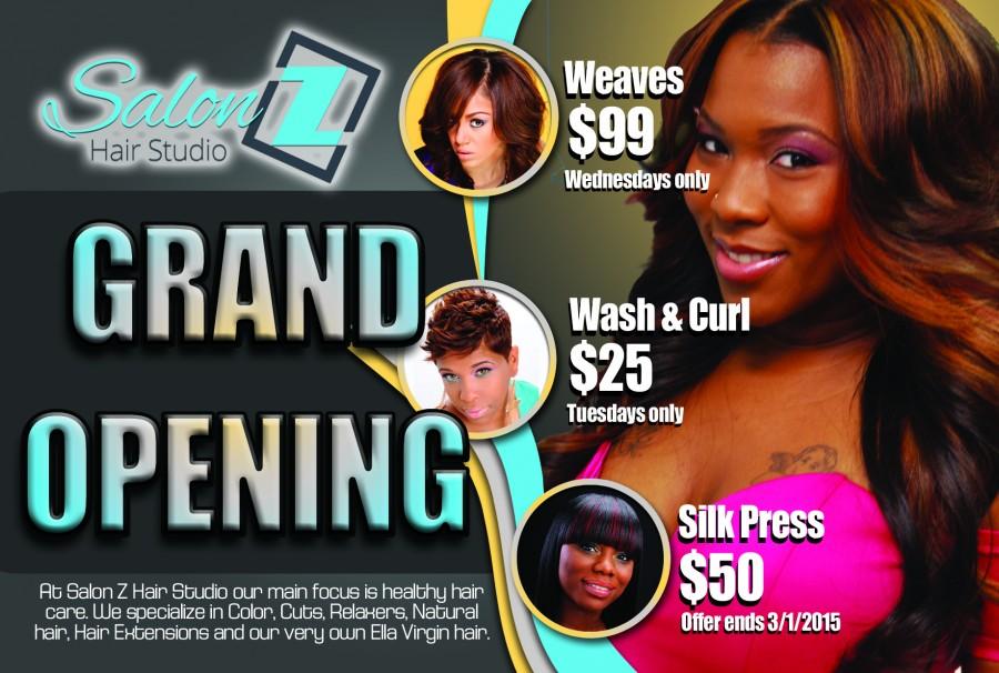 Salon Z Grand Opening Flyer