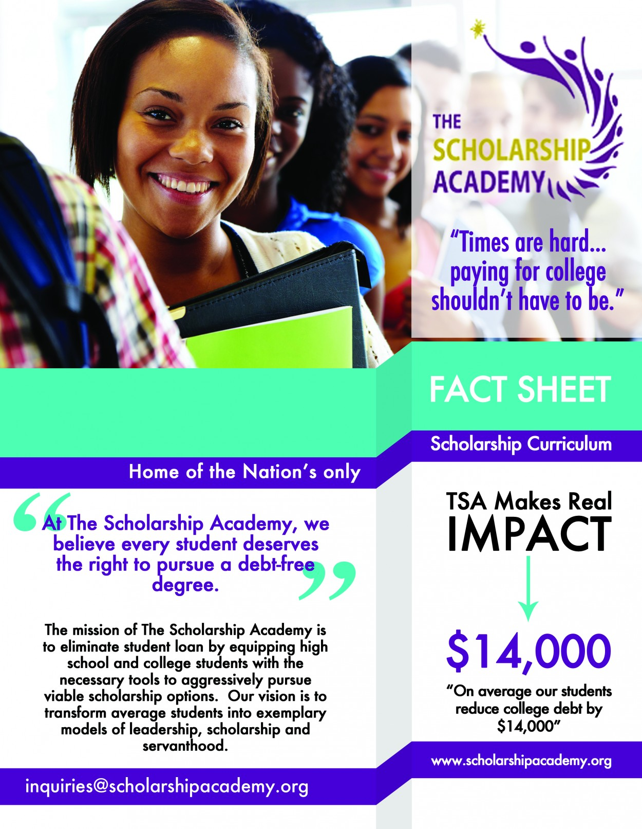 Scholarship Academy Fact Sheet
