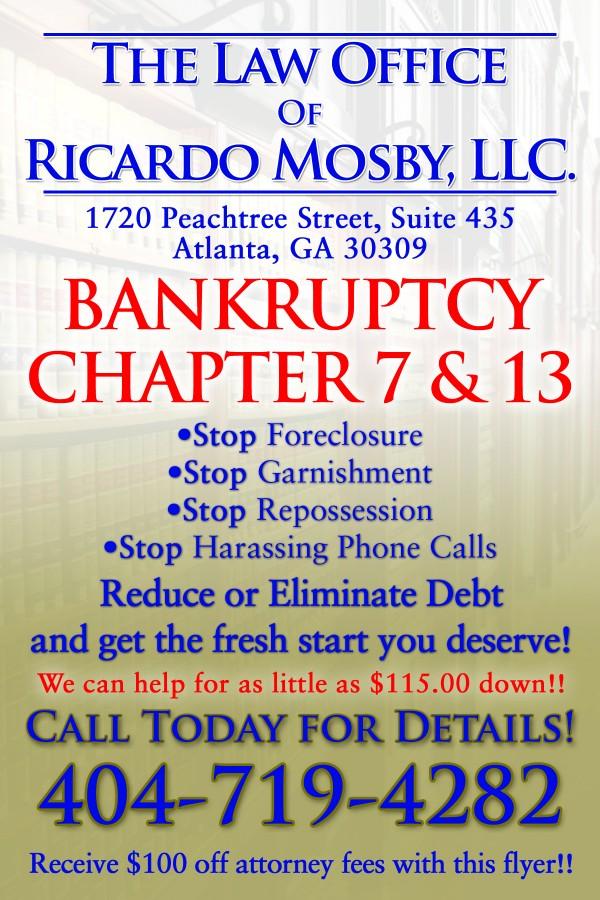Ricardo Mosby Bankruptcy Flyer
