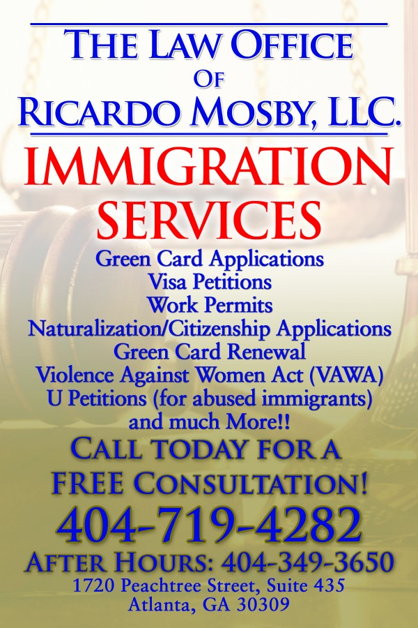 Ricardo Mosby Immigration Flyer