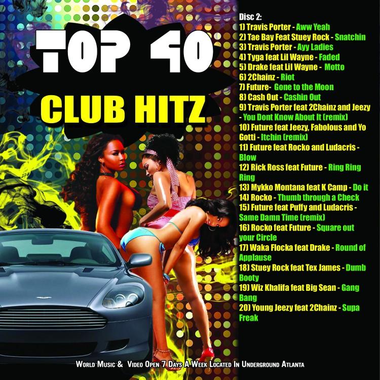 Top 40 Club Hitz CD Insert