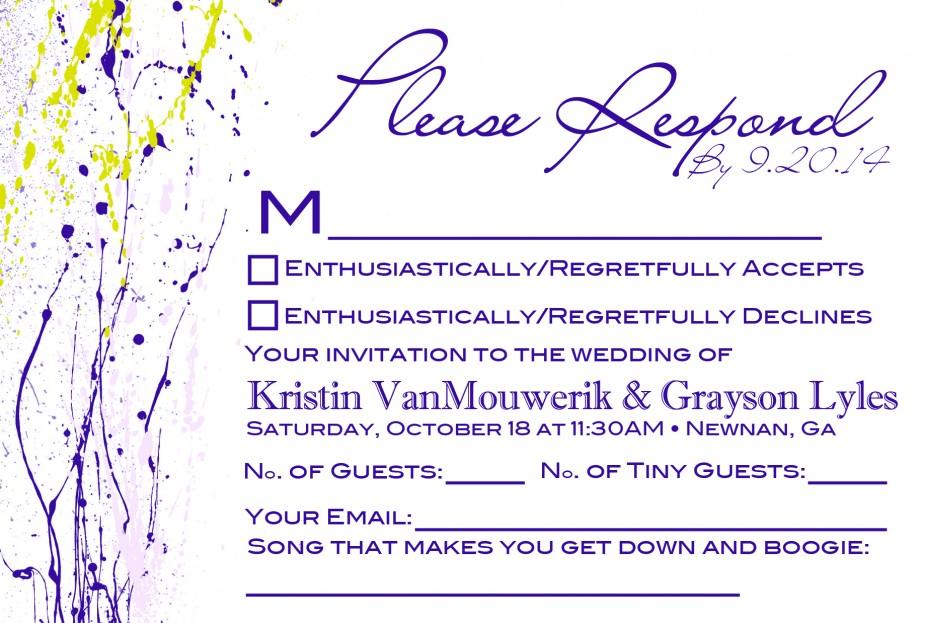 Wedding RSVP Mailer
